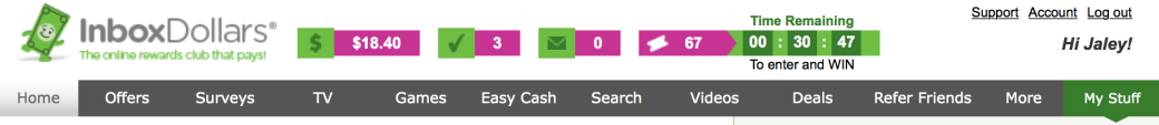 Inbox Dollars Dashboard