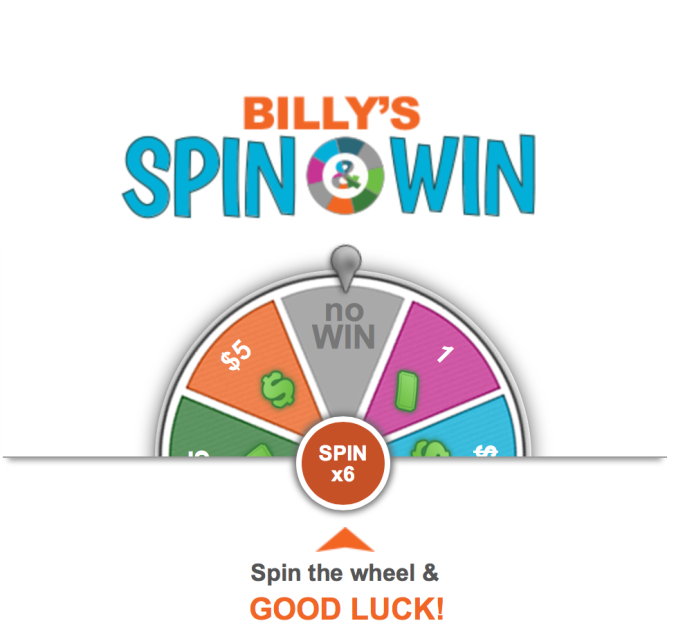 Billy's Spin & Win Inbox Dollars Online Money Maker